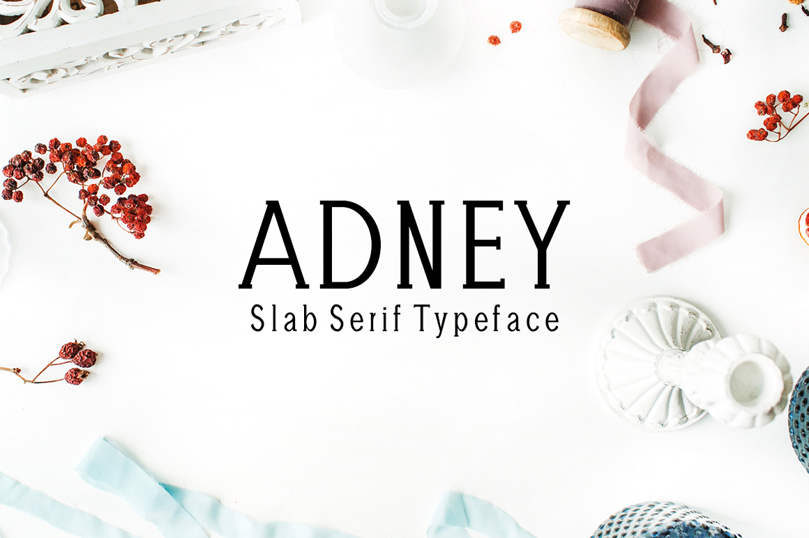 Print on Demand: Adney Slab Serif Font By Creative Tacos