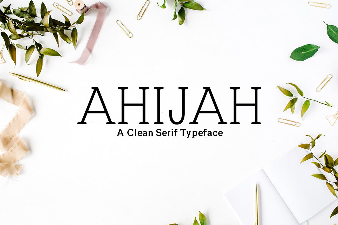 Print on Demand: Ahijah Serif Font By Creative Tacos