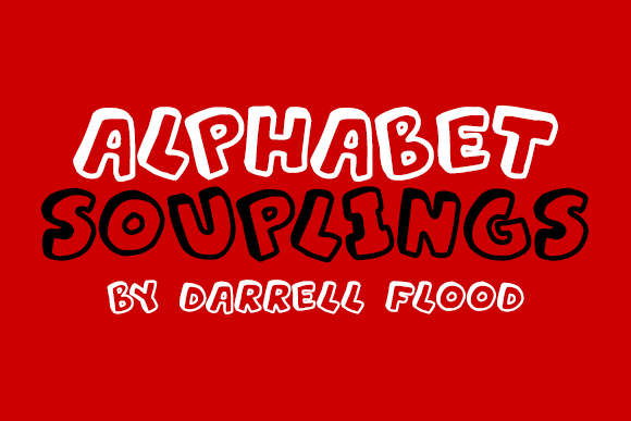 Print on Demand: Alphabet Souplings Decorative Font By Dadiomouse - Image 1