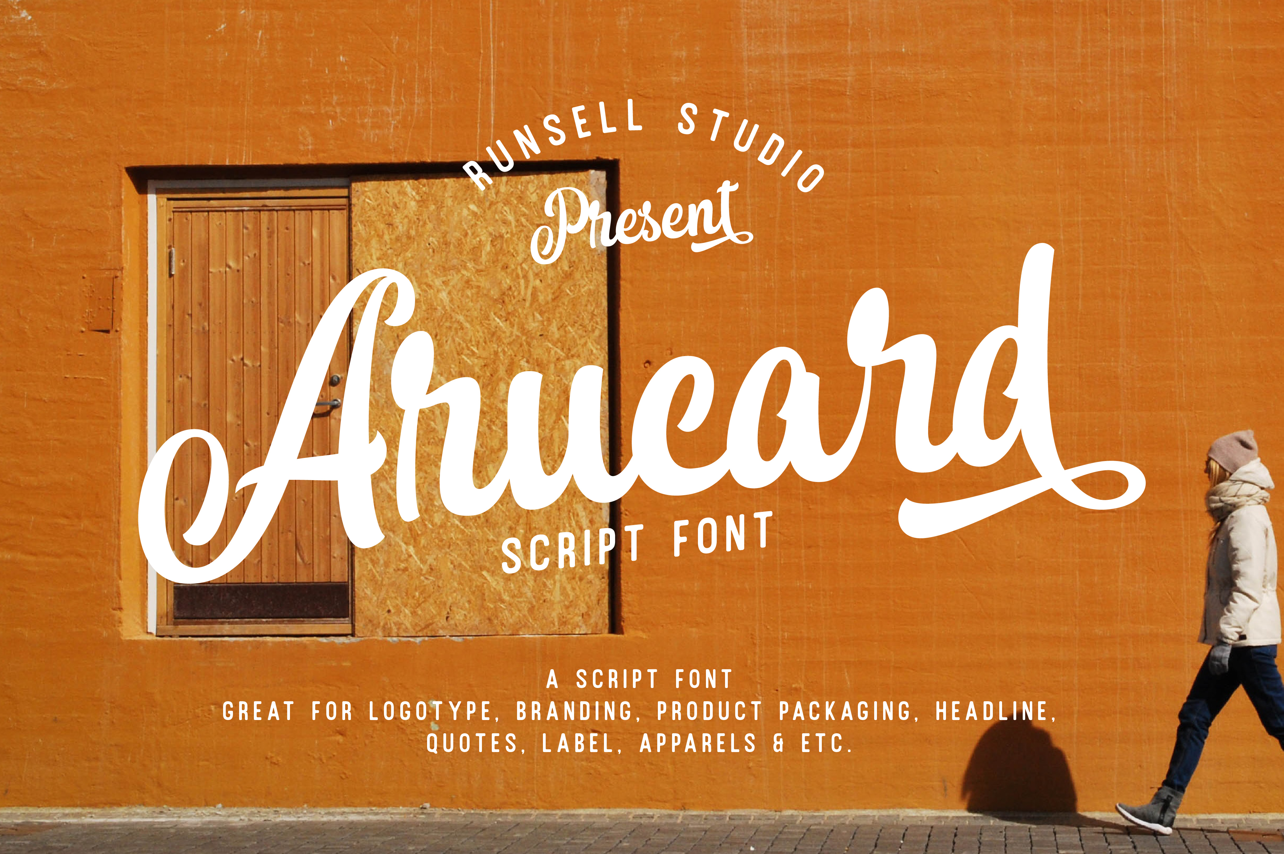 Arucard Script Display Font By Runsell Graphic