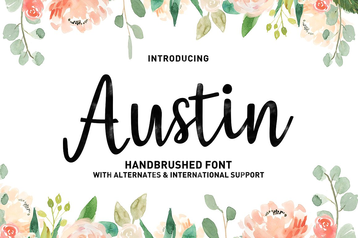 Print on Demand: Austin Manuscrita Fuente Por typehill