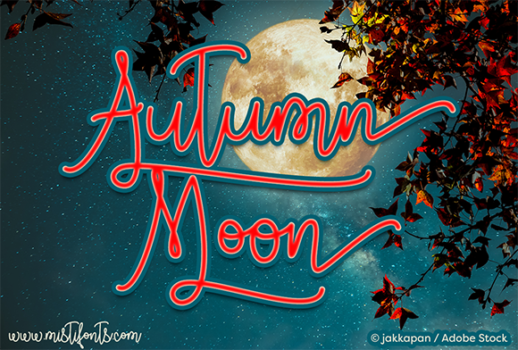 Print on Demand: Autumn Moon Script & Handwritten Font By Misti