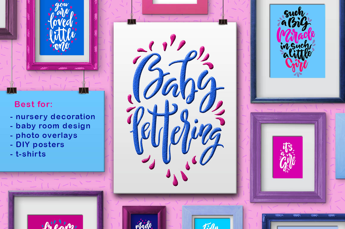 Print on Demand: Baby Lettering - Child Photo Overlays Graphic Illustrations By Iradvilyuk