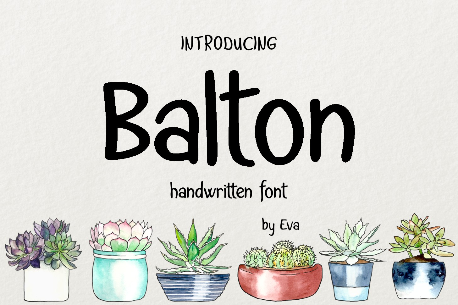 Print on Demand: Balton Script & Handwritten Font By Eva Barabasne Olasz