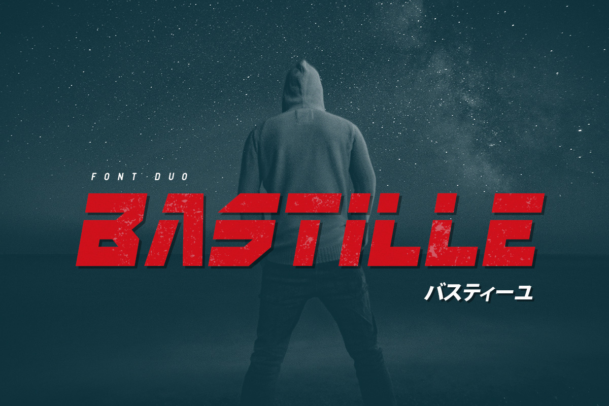 Print on Demand: Bastille Display Font By Factory738