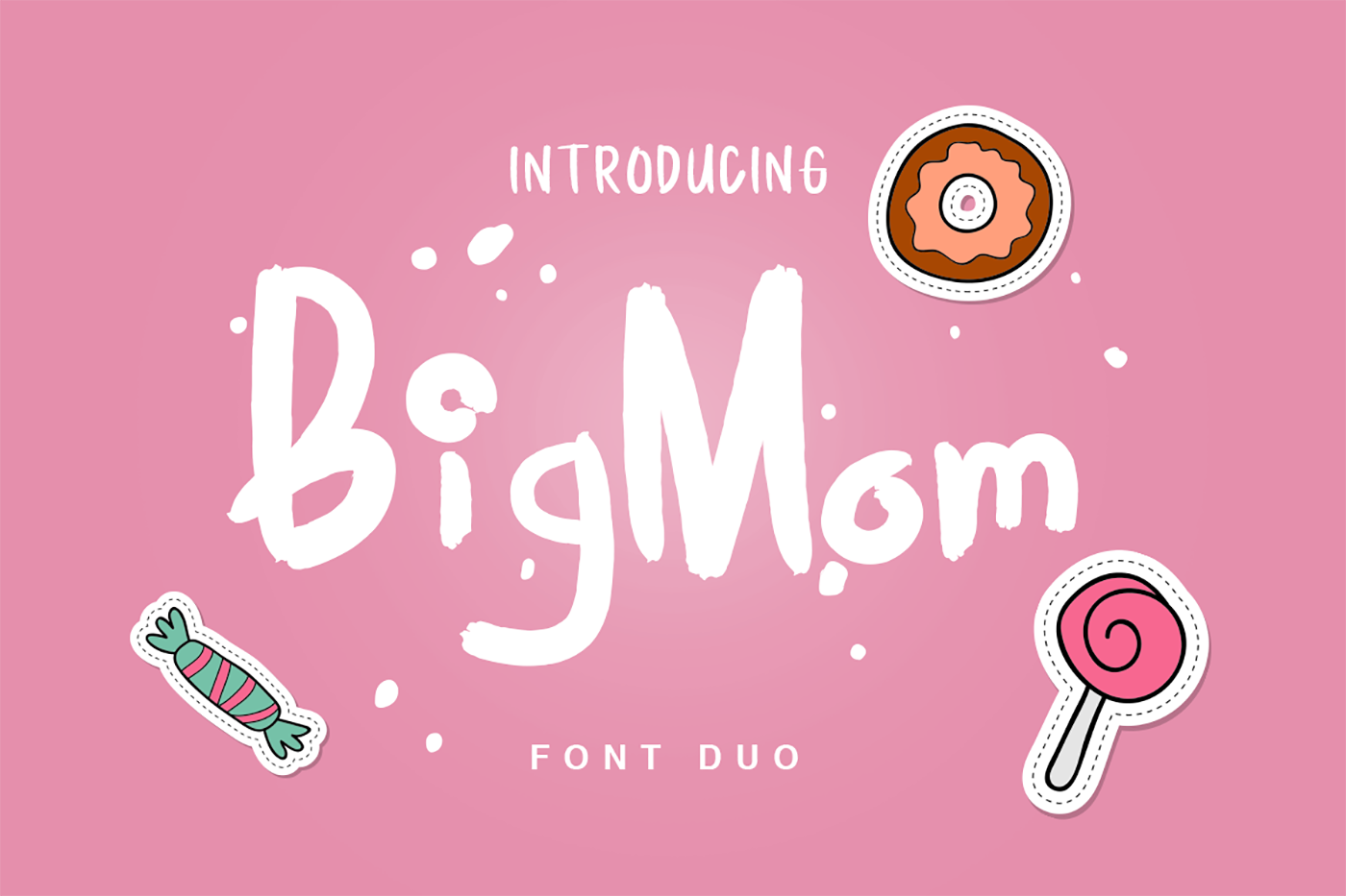 Print on Demand: BigMom Display Font By Factory738