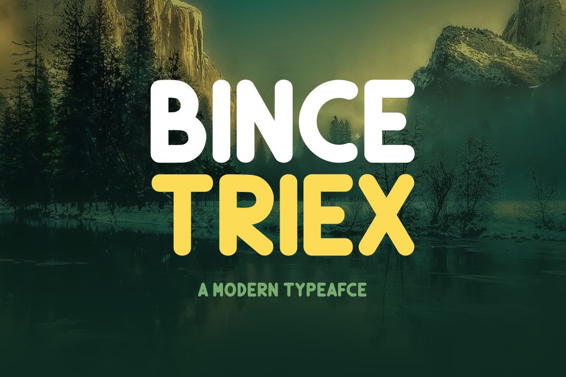 Print on Demand: Bince Triex Display Font By Contour Fonts