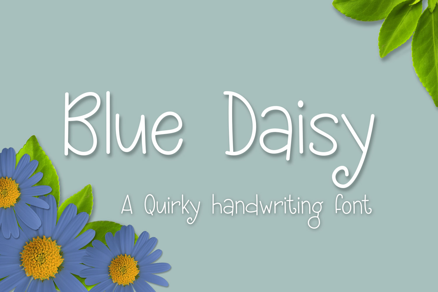 Print on Demand: Blue Daisy Script & Handwritten Font By Kristy Hatswell