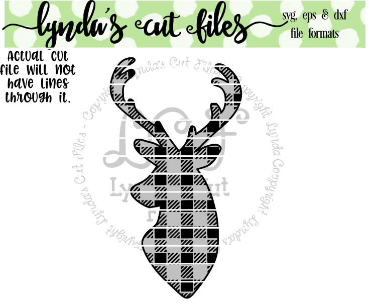 Download Free Buffalo Plaid Deer Svg Eps Dxf Studio File Grafico Por Lynda S for Cricut Explore, Silhouette and other cutting machines.