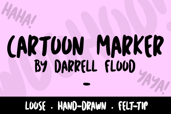 Print on Demand: Cartoon Marker Script & Handwritten Font By Dadiomouse - Image 1