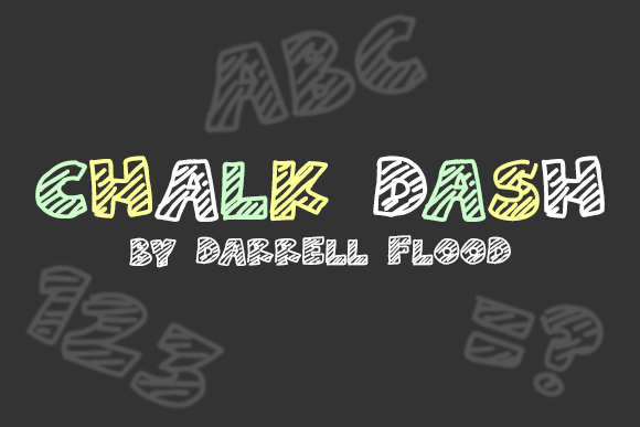 Print on Demand: Chalk Dash Decorative Font By Dadiomouse