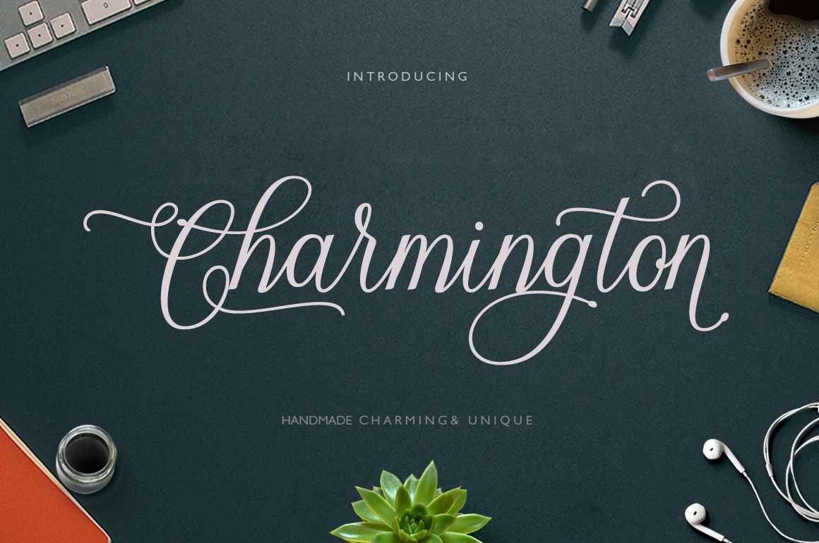 Print on Demand: Charmington Script & Handwritten Font By Cooldesignlab