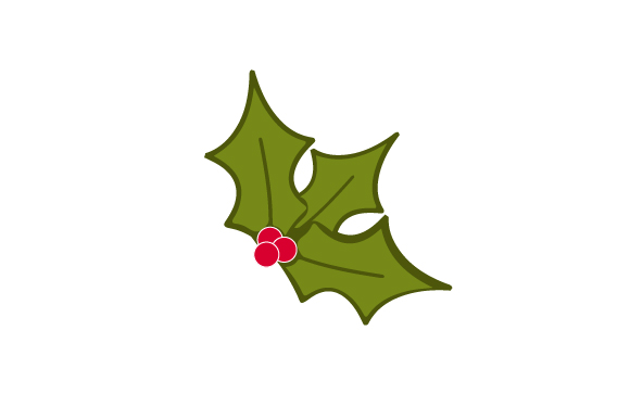 Christmas Holly Silhouette.Christmas Holly Svg Cut Files Free Svg Files Cut For
