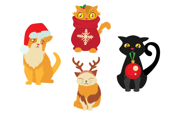 Christmas Cats Craft Design By Creative Fabrica Crafts