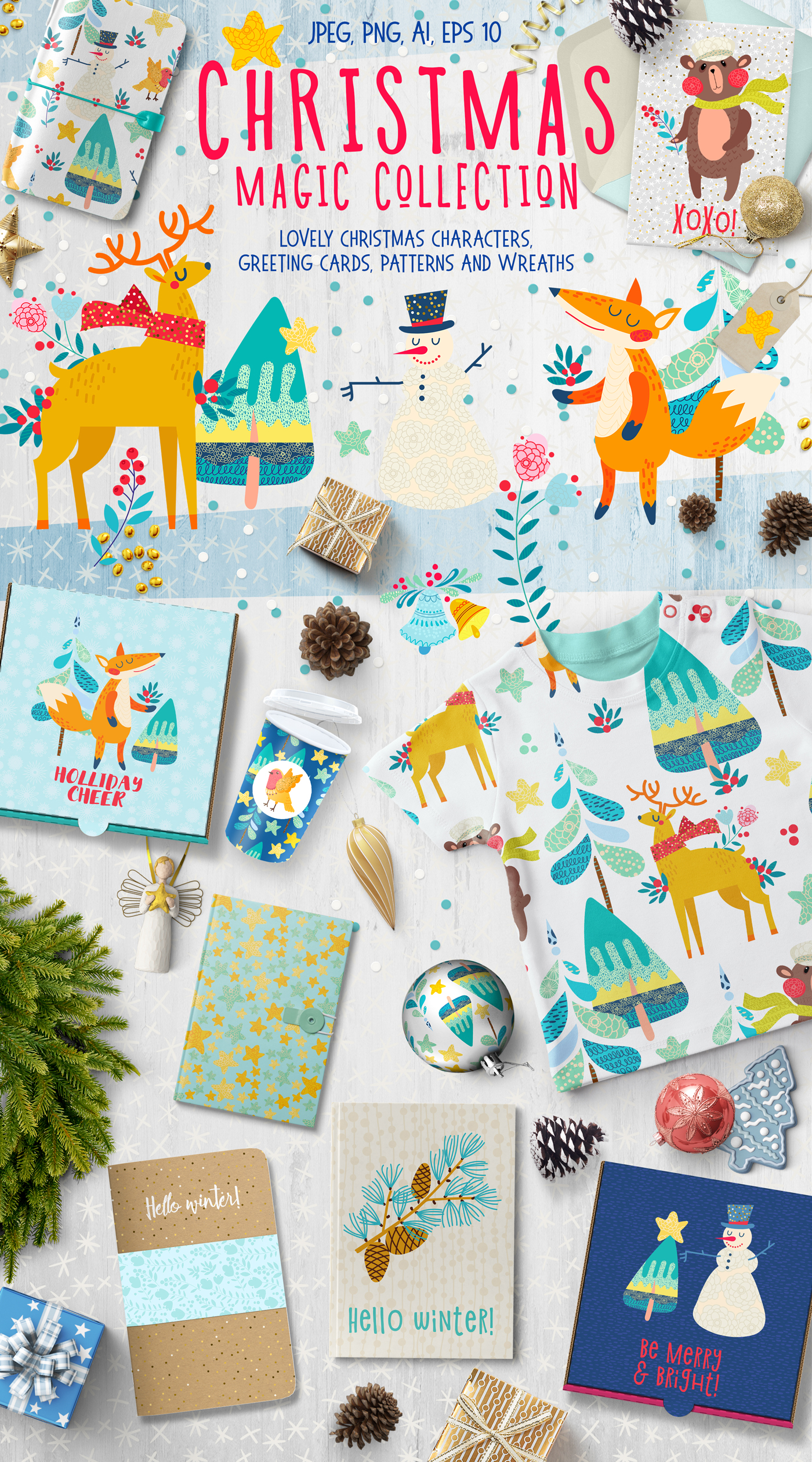 Christmas Magic Collection (Winter Forest) Graphic Illustrations By Klepsidra_day