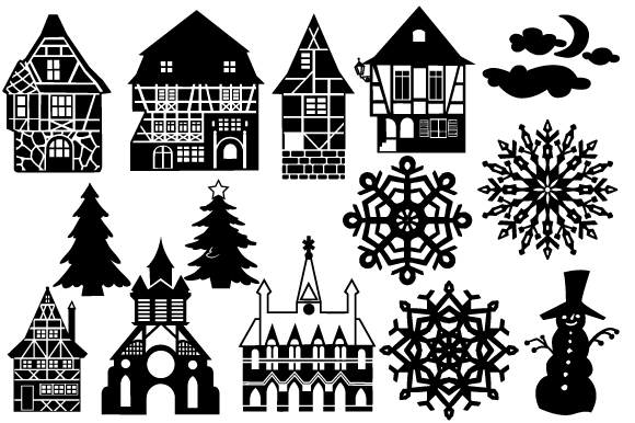 Christmas Scene Maker Cut File