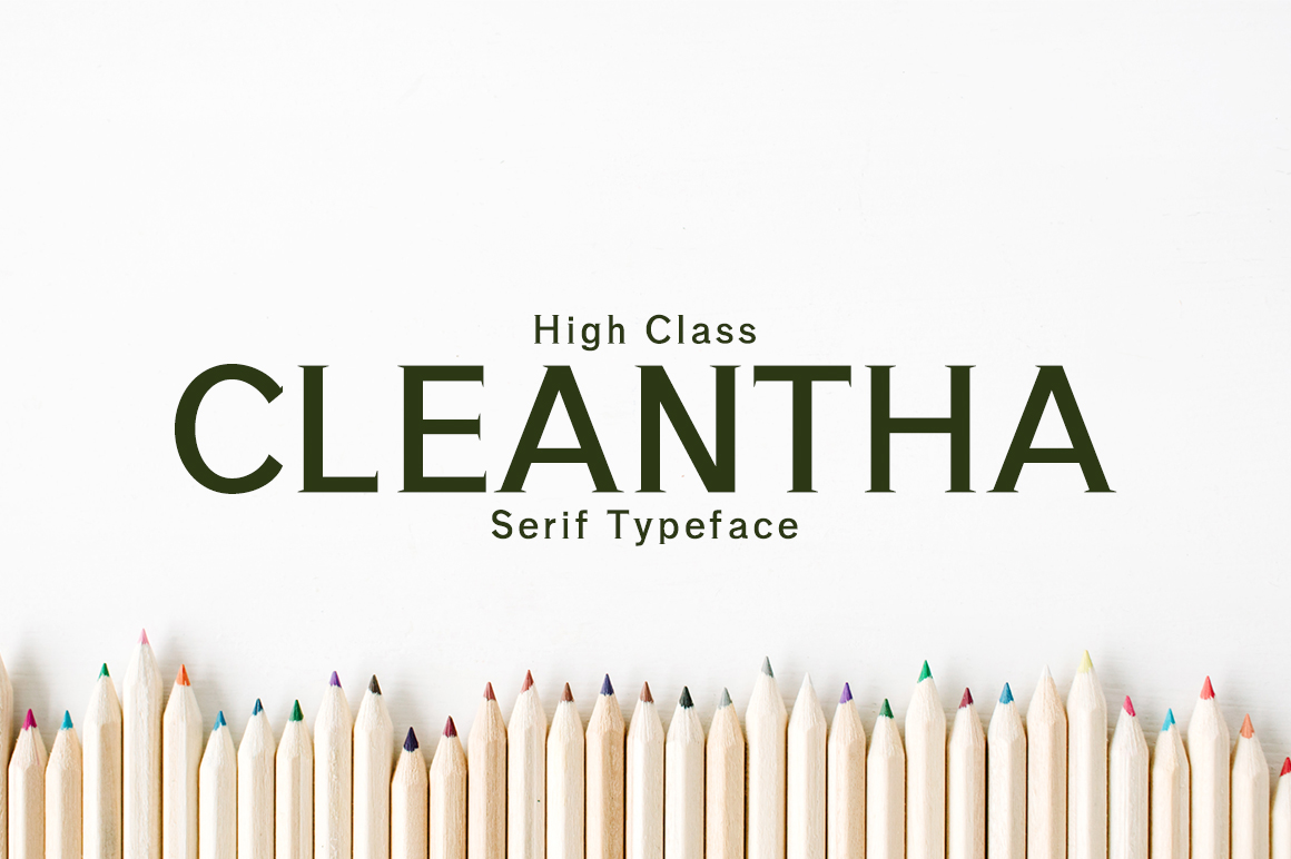 Print on Demand: Cleantha Serif Font By Creative Tacos