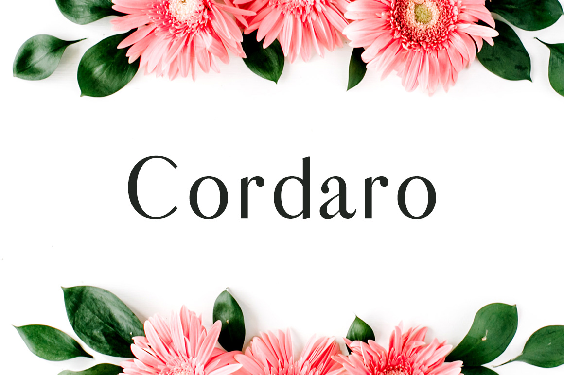 Print on Demand: Cordaro Sans Serif Font By Creative Tacos