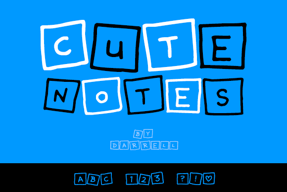 Print on Demand: Cute Notes Decorative Font By Dadiomouse