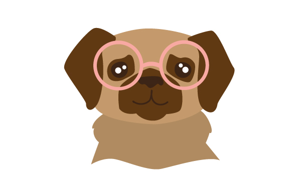 Dog in Hipster Glasses Dogs Craft Cut File By Creative Fabrica Crafts