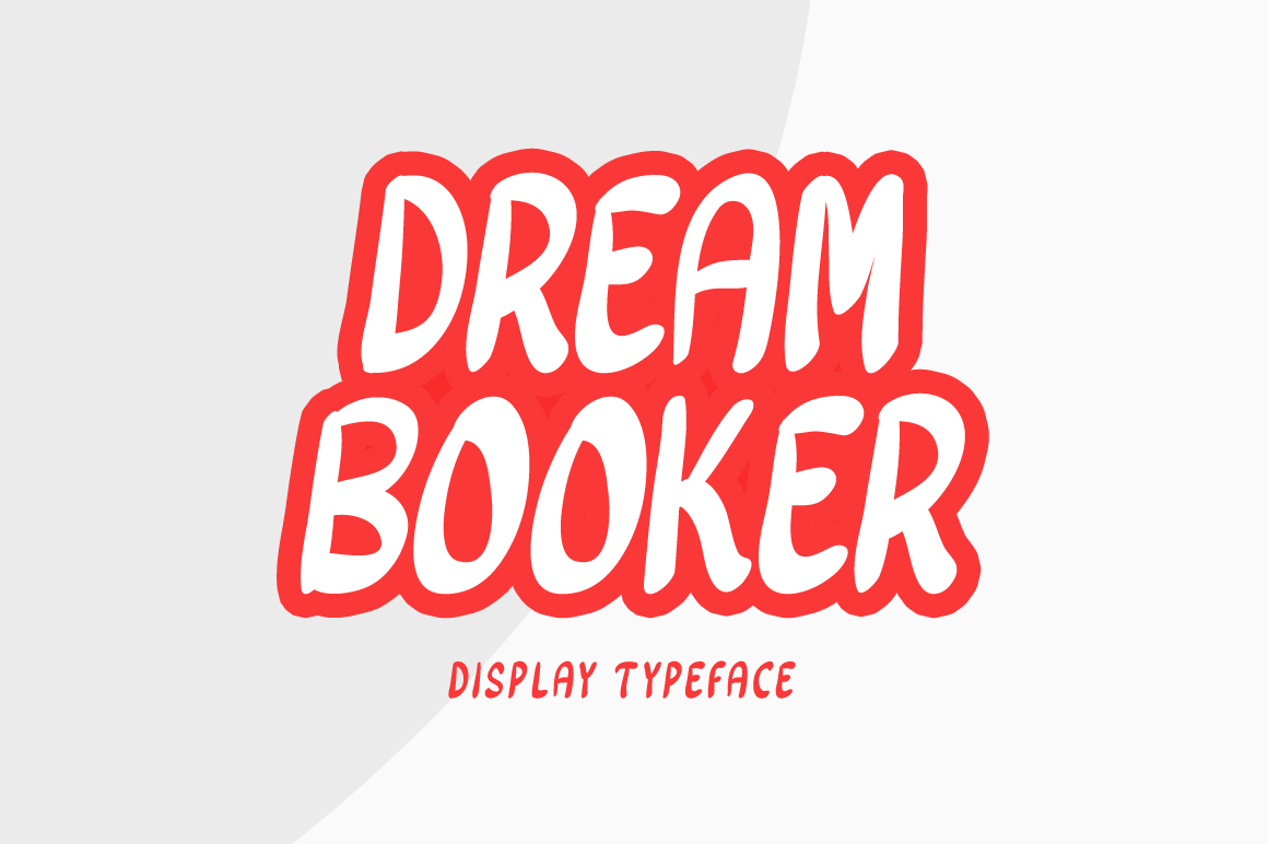 Download Free Dream Booker Font By Contour Fonts Creative Fabrica for Cricut Explore, Silhouette and other cutting machines.