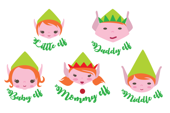 Download Free Elf Family Svg Cut File By Creative Fabrica Crafts Creative for Cricut Explore, Silhouette and other cutting machines.
