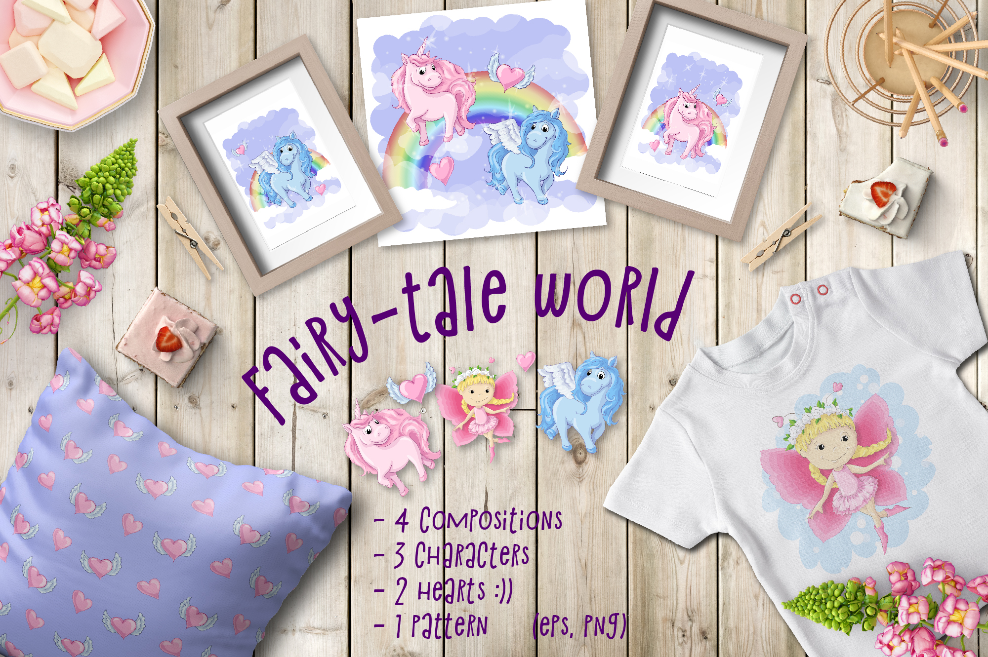 Print on Demand: Fairy Tale World Patterns and Designs Graphic Illustrations By nicjulia