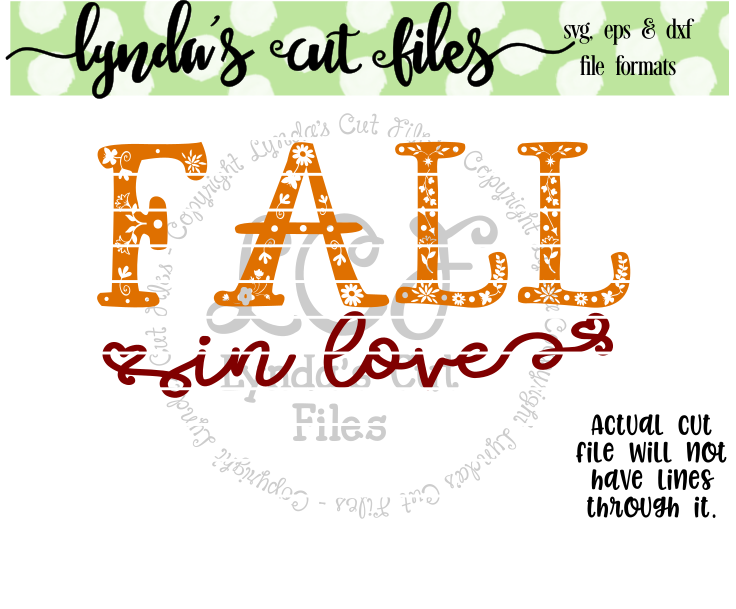 Download Free Fall In Love Svg Eps Dxf Studio File Graphic By Lynda S Cut for Cricut Explore, Silhouette and other cutting machines.