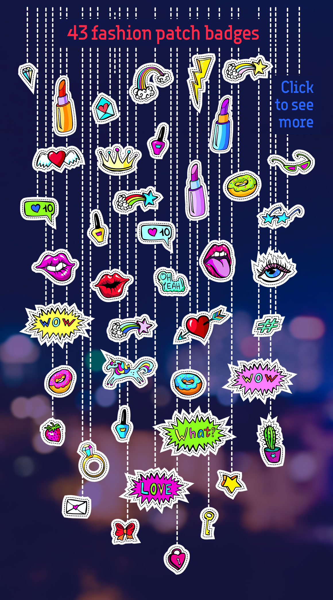 Download Free Girl S Dreams 80 S Fashion Patches Patterns Graphic By for Cricut Explore, Silhouette and other cutting machines.