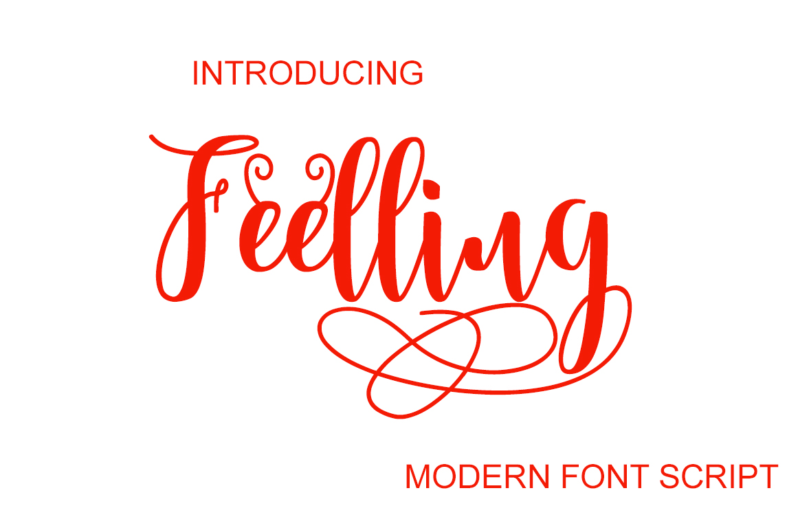 Print on Demand: Feelling Script & Handwritten Font By typedesign93 - Image 1