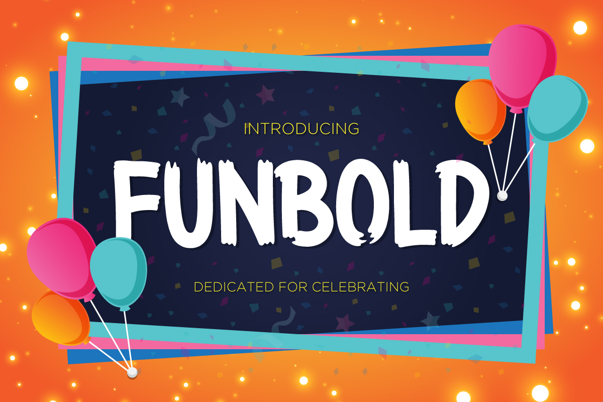 Print on Demand: Funbold Display Font By Kang1993