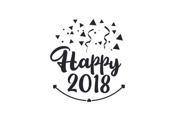 Happy 2018 New Year's Craft Cut File By Creative Fabrica Crafts - Image 2