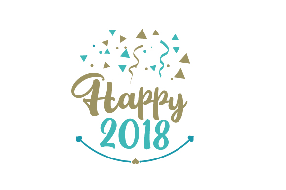 Happy 2018 New Year's Craft Cut File By Creative Fabrica Crafts - Image 1
