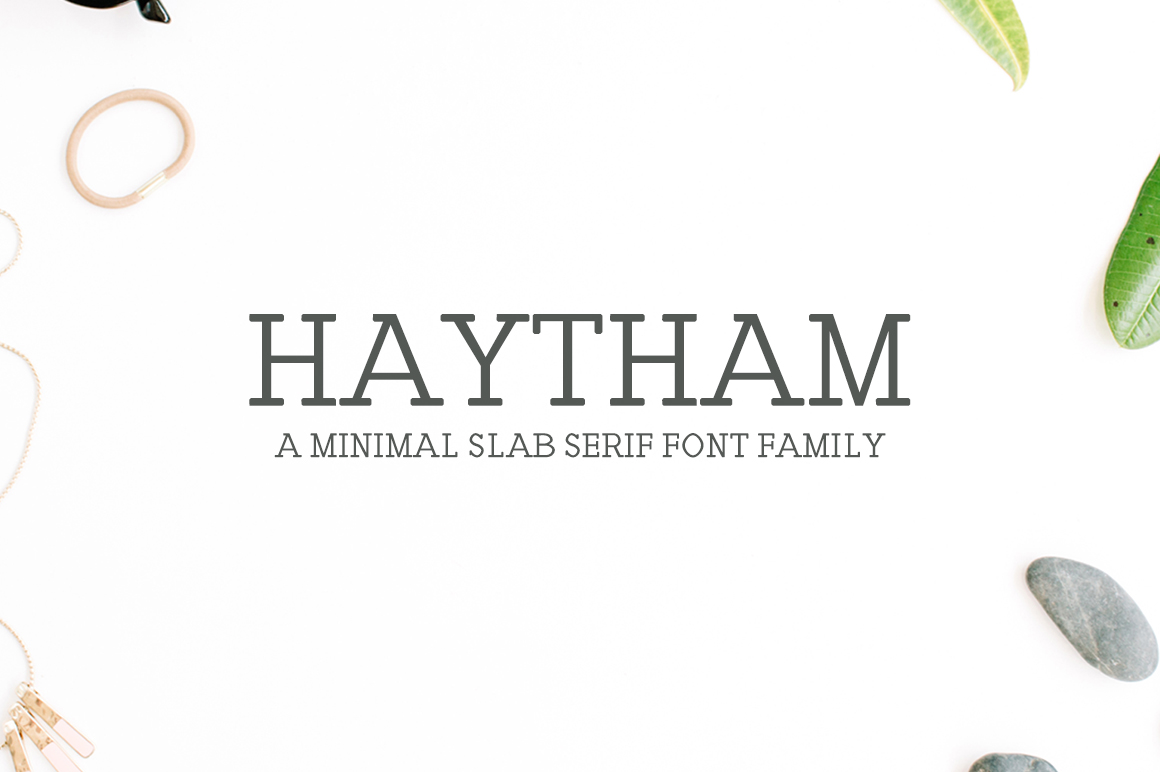 Print on Demand: Haytham Slab Serif Font By Creative Tacos - Image 1