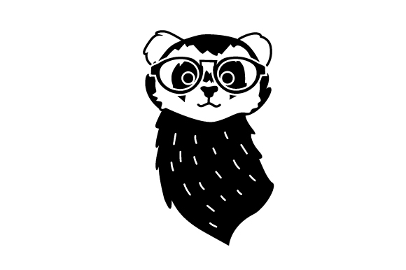Download Free Hipster Ferret Svg Cut File By Creative Fabrica Crafts for Cricut Explore, Silhouette and other cutting machines.