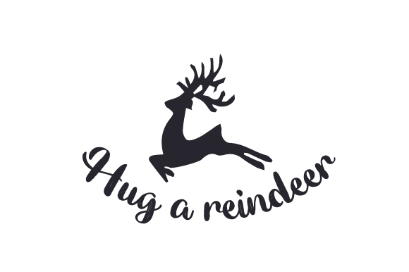 Download Free Hug A Reindeer Svg Cut File By Creative Fabrica Crafts for Cricut Explore, Silhouette and other cutting machines.