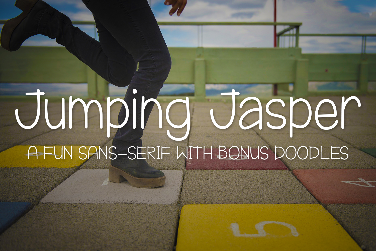 Print on Demand: Jumping Jasper Sans Serif Font By Kristy Hatswell