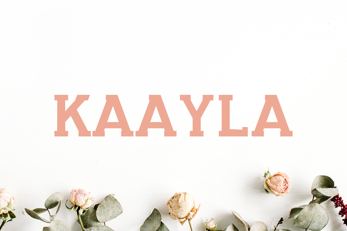 Print on Demand: Kaayla Slab Serif Font By Creative Tacos
