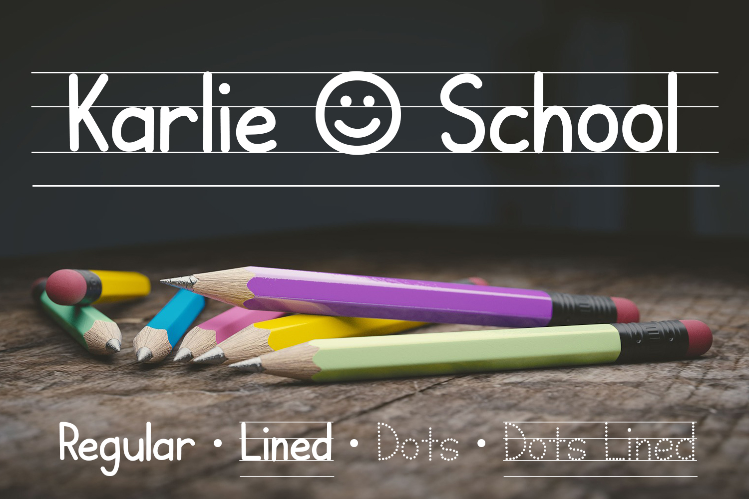 Print on Demand: Karlie School Display Font By Kristy Hatswell
