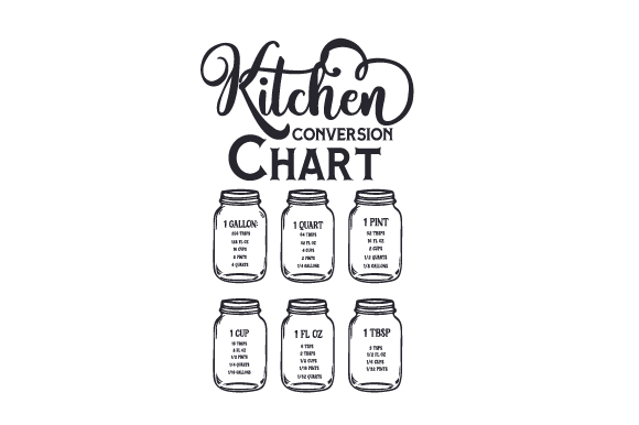 Kitchen Conversion Chart Cocina Craft Cut File Por Creative Fabrica Crafts
