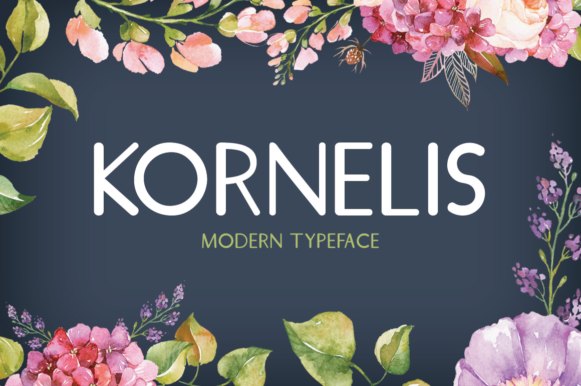 Print on Demand: Kornelis Sans Serif Font By Creative Fabrica Fonts