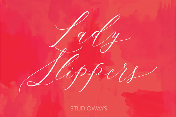 Print on Demand: Lady Slippers Script & Handwritten Font By Studioways