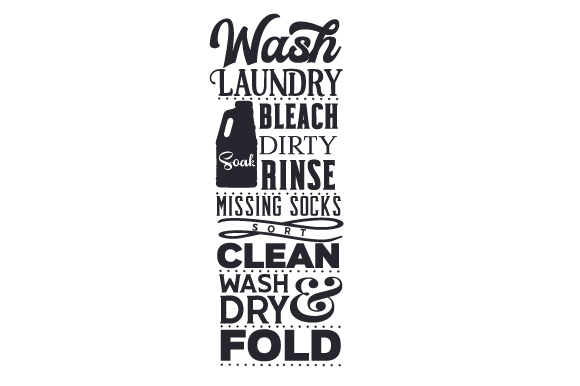 Download Free Laundry Room Subway Art Svg Cut File By Creative Fabrica Crafts for Cricut Explore, Silhouette and other cutting machines.