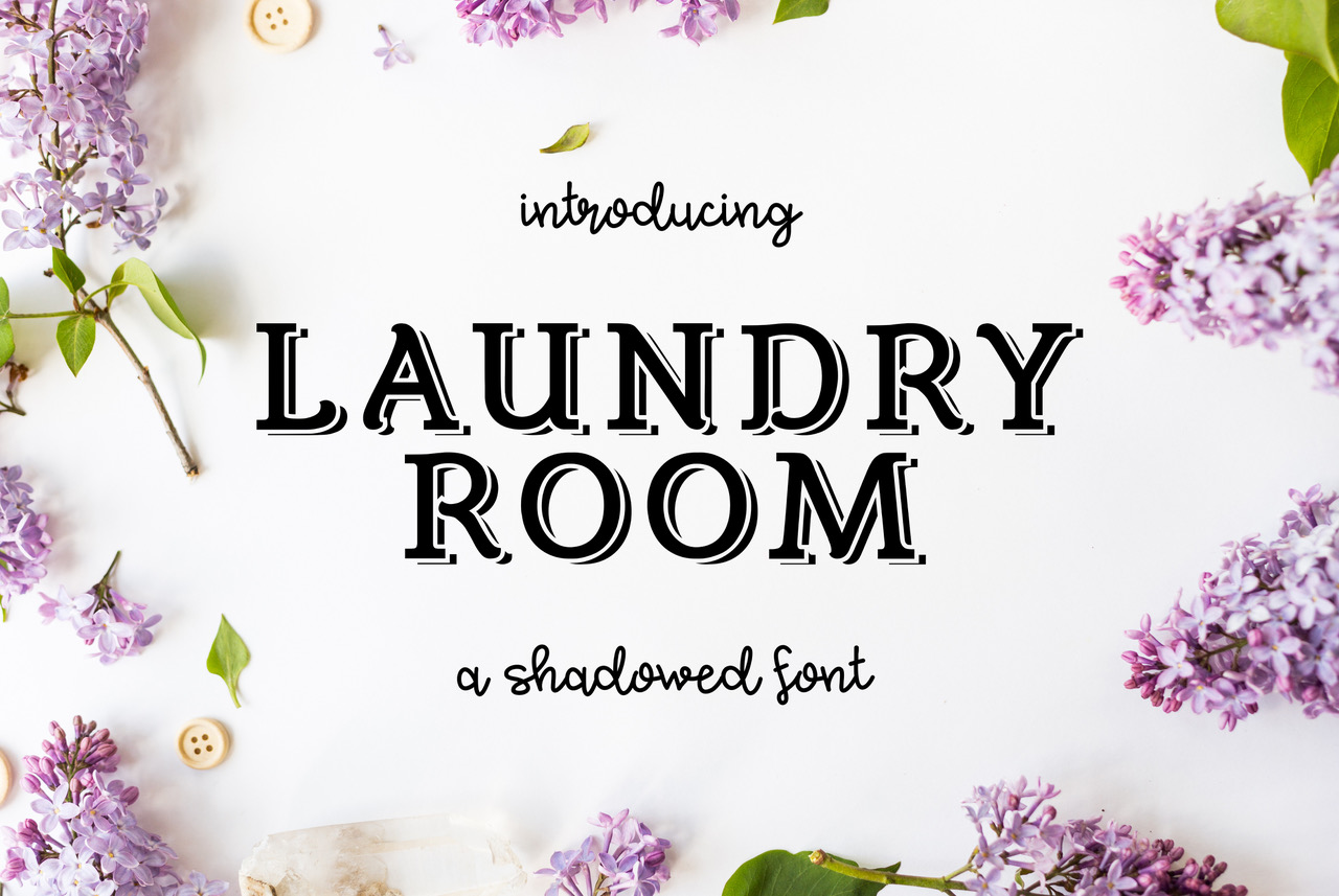 Laundry Room Display Font By ellyhood