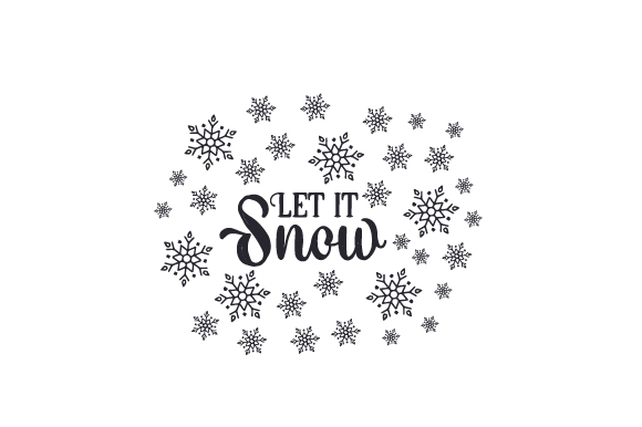 Download Free Let It Snow Svg Cut File By Creative Fabrica Crafts Creative for Cricut Explore, Silhouette and other cutting machines.
