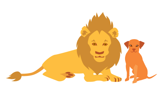 Lion and Ridgeback Designs & Drawings Craft Cut File By Creative Fabrica Crafts