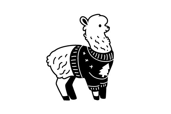 Download Free Llama With Ugly Christmas Sweater Svg Cut File By Creative for Cricut Explore, Silhouette and other cutting machines.