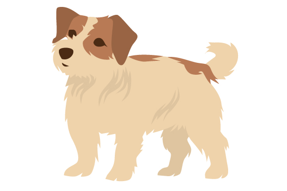Long-haired Jack Russell Terrier Craft Design By Creative Fabrica Crafts