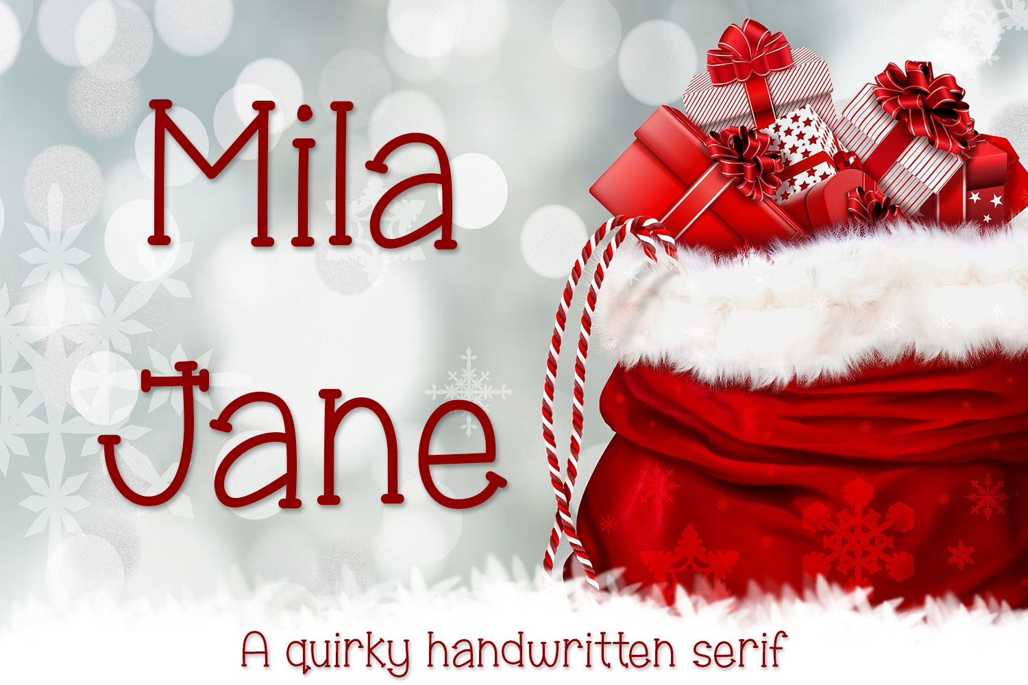 Print on Demand: Mila Jane Serif Font By Kristy Hatswell