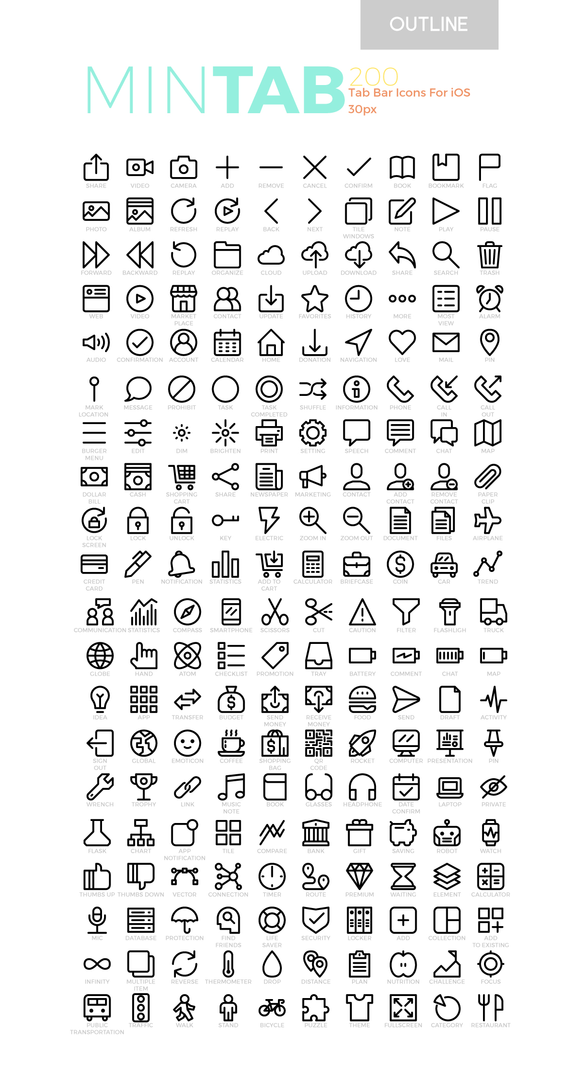 Download Free Mintab Minimal Tab Bar Icons For Ios Graphic By Becrispk for Cricut Explore, Silhouette and other cutting machines.